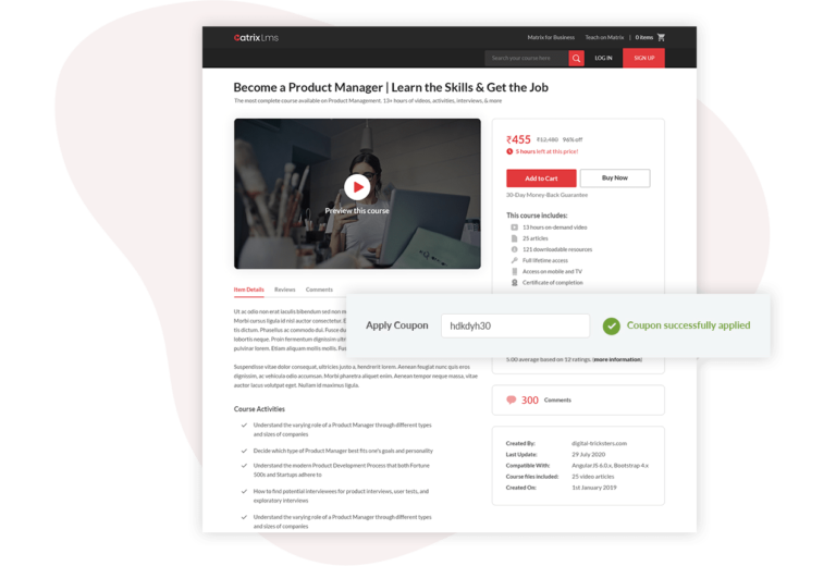 Arguably The Best Course Marketplace Plugin for your Moodle Website to sell your courses